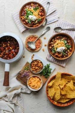 Fire Roasted Taco Soup Two Ways
