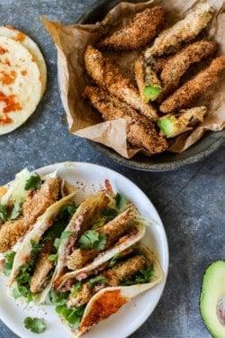 Crunchy Gluten Free Avocado Tacos