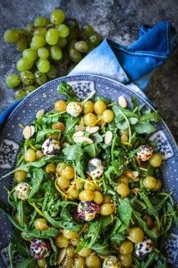 Roasted Grape and Arugula Salad