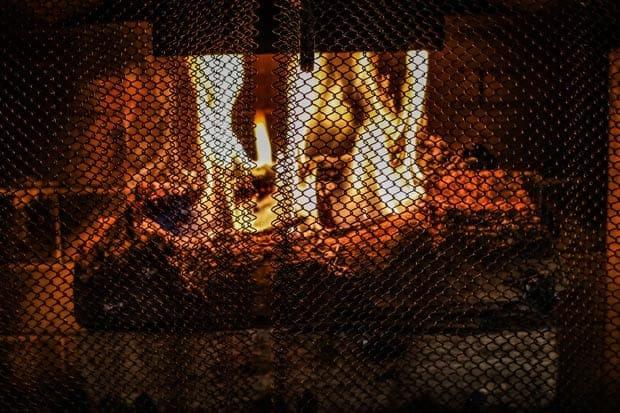 An upside down fire burning
