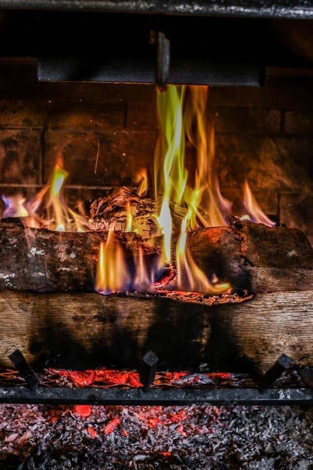Close up of an Upside-Down fire