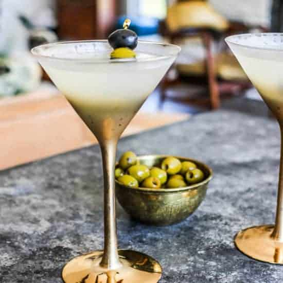 The Best Dirty Vodka Martini recipe for New Year's Eve