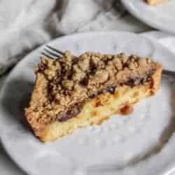 A slice of Weekend Coffee Cake Crumble