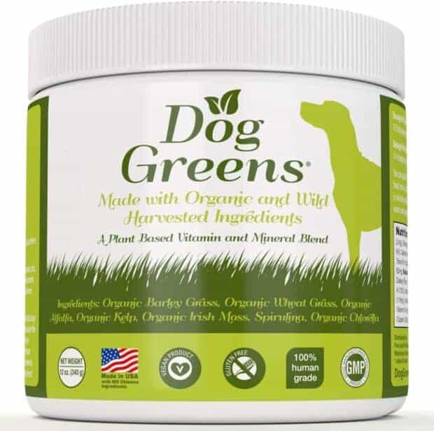 Dog Greens vitamins for dogs.